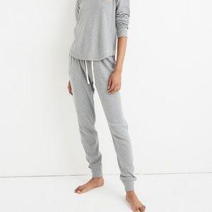 NWT Madewell Joggers Sweatpants Pajamas Gray XL